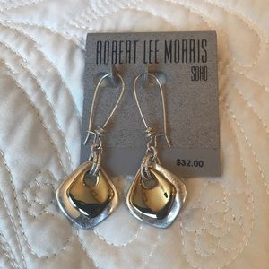 RLM Two Tone Drop Earrings